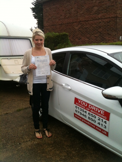 Congrats to Ellis from March who passed her driving test todayRemember Ellis i expect a big smile and a wave: