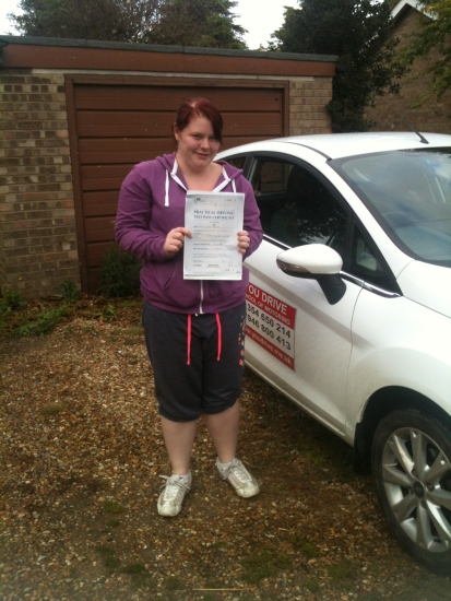 Congratulations to Elisha from Outwell who passed her test on 1st October
