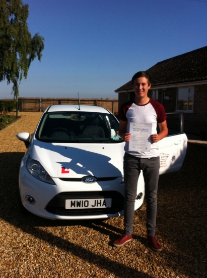 Congratulations to Jordan from Benwick who passed his test on 2nd September