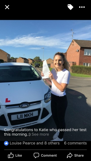 Congratulations to Katie on passing:)