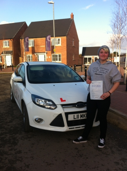 Congratulations to Keira from March who passed her test 81215