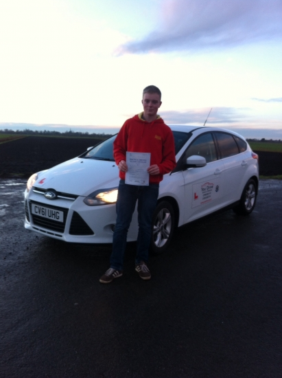 Congratulations to Liam from March who passed his test on 13th January