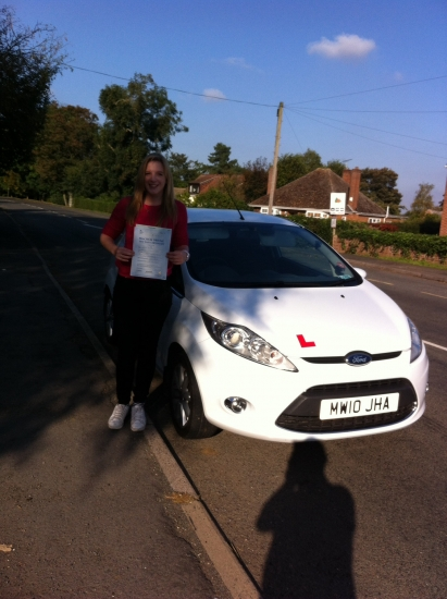 Congratulations to Martha from Wimblington who passed her test on 2nd October