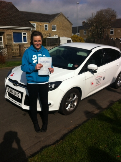 Congratulations to Megan from March who passed her test on 14415