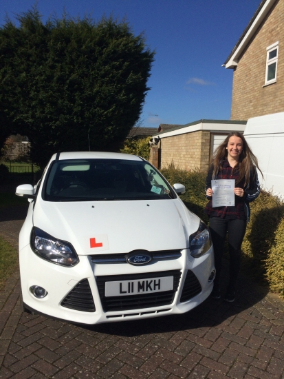 Happy days for Mei who passed her test today: