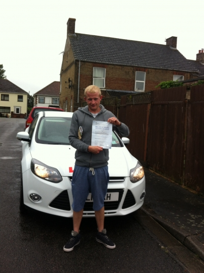 Great result for Micheal from March who passed his test on 20th June