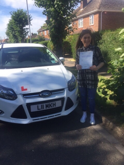 Congratulations to Rhianna from March who passed 23rd August:
