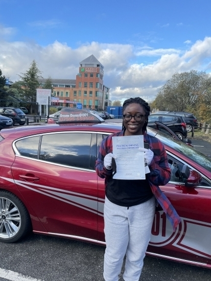 Congratulations to Koyin who passed her test just before lockdown. Well done. <br />