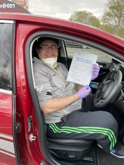 """Congratulations to Leo who passed his test  today. <br /> """" Thank you very much for helping me get my licence. With your patience and expertise you taught me the skills to become a safe and confident driver. <br /> Kind Regards<br /> Leo"""""""