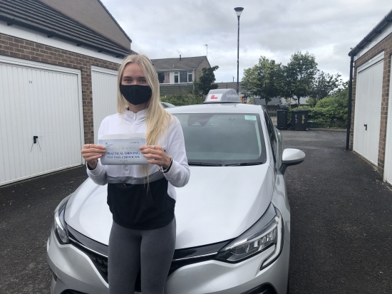 Congratulations Elle on passing your driving test today, just the 3 driving faults. It's been an absolute pleasure teaching you. Will see you on the roads! 👋 🎊🎉Passed Tuesday 6th July 2021