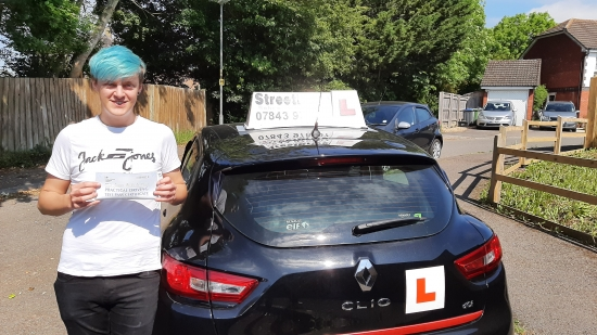 """Congratulations to Daniel who passed his car test today """"1st attempt"""",  just the 1 driving fault. Passed Wednesday 9th June 2021."""