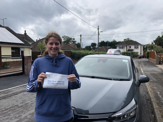 """Congratulations """"Poppy"""" on passing your driving test 1st attempt, just the 3 df's. Enjoy the freedom & stay safe! 👋 🎊🎉 Passed Friday 25th June 2021."""