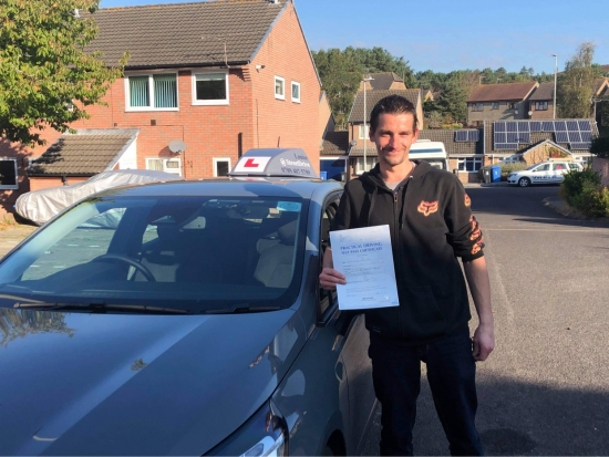 Congratulations Richard on passing your driving test at Poole DTC today. <br /> <br /> Fantastic drive!!  Keep safe and enjoy the freedom! 👋 🎊🎉<br /> <br /> Passed Thursday 14th October 2021.