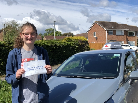 """My driving lessons were very good and even though I was learning for longer then I should have because of COVID, it was still very good.<br /> <br /> Thank you to my instructor """"Louise"""" - Passed Tuesday 25th May 2021."""