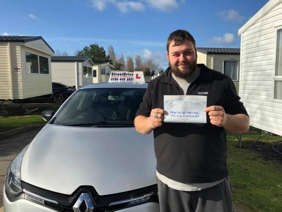 """Congratulations """"Adam Bennett"""" who passed his driving test at Poole DTC, """"1st"""" attempt, just the """"4"""" driving faults.Your instructor """"Shaun"""" and ALL of us at StreetDrive (SoM) are delighted for you, very well done 🥳 🚗 🍾 — Passed Wednesday 26th February 2020."""