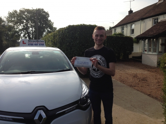 Congratulations to Adam Dent who passed his driving test this morning at Poole DTC just TWO driving faults very good drive we are all delighted for you<br />