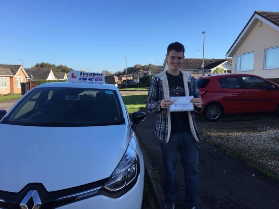 Congratulations to 'Aiden Reeves Whitfield' who passed his driving test today at Poole DTC, fantastic news.<br />
