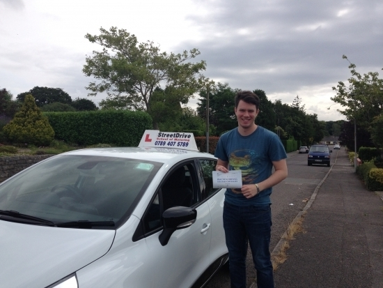 Passed this morning congratulations to Alastair Snell who passed his driving test 1st Attempt at Poole DTC just ONE driving faults very well done we are all delighted for you<br />