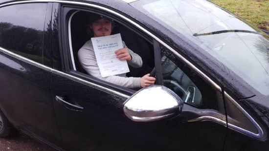 """ongratulations """"Alex Lapish"""" who passed his driving test """"1st attempt"""", just the """"ONE"""" driving fault, fantastic result.<br /> <br /> Congratulations from your instructor """"Bradley"""" and all of us at StreetDrive (SoM), take care and safe driving - Passed Friday 6th December 2019."""