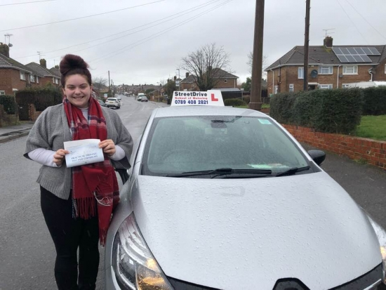 """Beep, beep, congratulations to 'Alicia Powell"""" who passed her driving test this morning at Poole DTC, at the """"1st attempt"""", with """"THREE"""" driving faults, delighted for you.<br /> <br /> Congratulations from your instructor 'Shaun' and ALL of us at StreetDrive (School of Motoring), may we wish you many years of safe driving - Passed Monday 18th Feb 2019."""