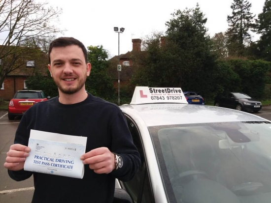 """Beep, beep, congratulations to 'Azem Etheni' who passed his driving test today at Westbury DTC, just """"FOUR"""" driving faults, we are ALL delighted for you.<br /> <br /> Congratulations from your instructor 'Roger' and ALL of us at StreetDrive (School of Motoring), may we wish you many years of safe driving - Passed Friday 25th January 2019."""