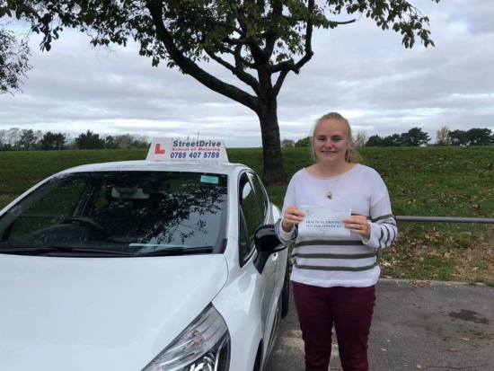 "Woohoo - move over ""Becky"" is on the road, delighted for 'Becky Keats' who passed her driving test at Poole DTC, ""1st Attempt"", just ""THREE"" faults, fantastic news.<br />