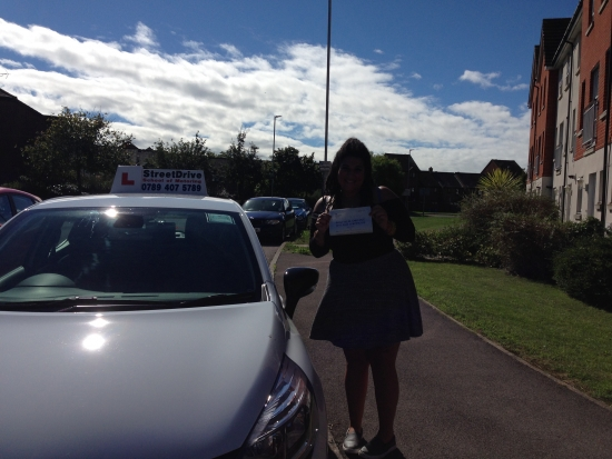 An enormous thank you to my instructor Louise who was patient with me very professional and gave me support whenever I felt nervous or worried<br /> <br /> <br /> <br /> I managed to pass with ZERO Driving Faults which says it all really <br /> <br /> <br /> <br /> Thank you so much once again 100 recommend StreetDrive to everyone looking to be taught how to drive safely with friendly and understanding instructors - Passed Thursda