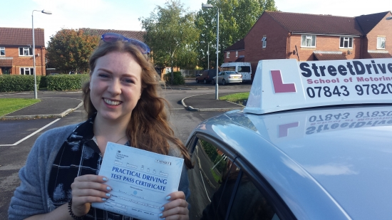 Well done to Bethan Macdonald who passed her driving test at Trowbridge DTC just TWO driving faults we are ALL delighted for you<br />
