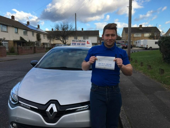 "Delighted for ""Buster Amey' who passed his driving test today at Poole DTC, and at the ""1st Attempt"" just ""FIVE"" driving faults, fantastic news.<br />