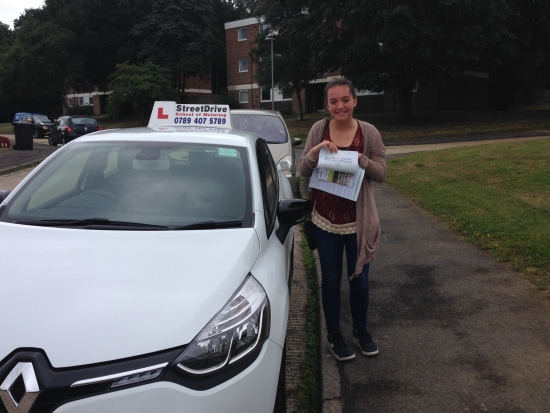 Passed on her 18th Birthday congratulations to Cjay Adams who passed her driving test today at Poole DTC just TWO driving faults very well done we are all delighted for you<br />