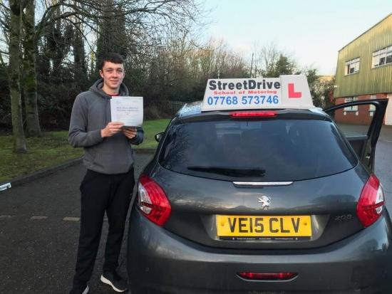 "A massive well done to 'Callum Drummond' who passed his driving test today at Chippenham DTC, and at the ""1st attempt"", we are ALL delighted for you.<br />