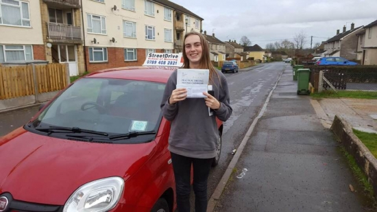 I passed my driving test with 'NO' driving Faults, Had the best experience with 'Bradley' from StreetDrive, he was very nice! <br /> <br /> I passed first time and they are worth every bit of money! Would highly recommend! Passed Thursday 27th December 2018.