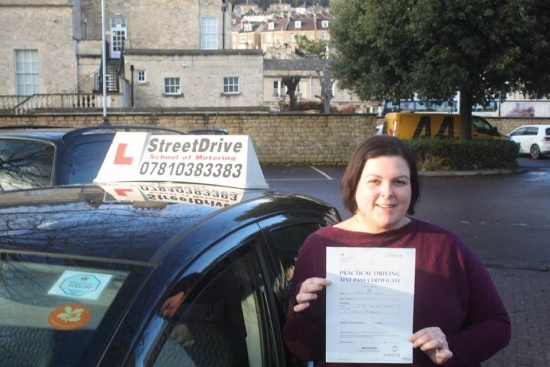 """Congratulations to """"Carina Tanner"""" who passed her test today at Chippenham DTC, just """"THREE"""" driving faults, fantastic effort, very well done.<br /> <br /> Congratulations from your instructor """"Philip"""" and ALL of us at StreetDrive (School of Motoring), drive safely and take care - Passed Monday 4th February 2019."""