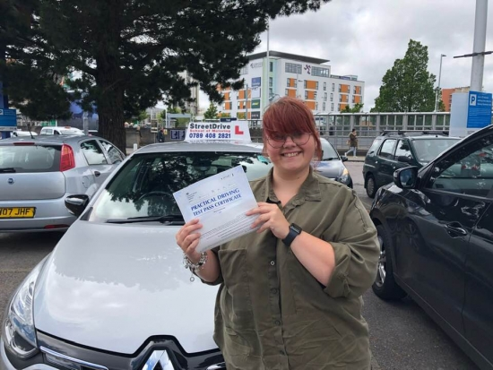 Excellent driving school! 'Shaun' was very patient and understanding throughout the driving course! Couldn´t recommend StreetDrive and 'Shaun' enough! <br /> <br /> Thank you so much, I am very excited to be on the road safely! Chelsea May - Passed Friday 14th June 2019