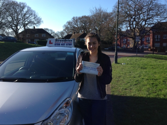 Congratulations to Chloe Chan who passed her driving test 1st Attempt on Monday 15th Feb 2016 very well done<br /> <br /> <br /> <br /> Congratulations from your instructor Louise and ALL of us at StreetDrive School of Motoring may we wish you many years of safe driving