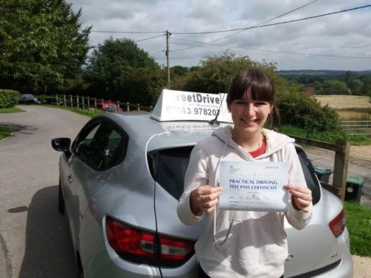 Congratulations to Chloe Roberts-Phare who passed her driving test today at Westbury DTC just SIX driving faults fantastic news<br />