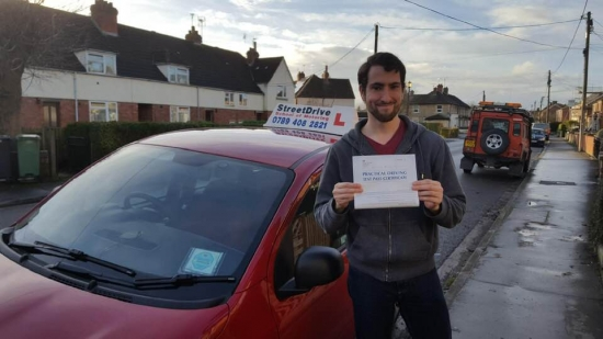 """Well done to """"Dan Williams"""" who passed his test today at Chippenham DTC, 1st time pass with just the """"TWO"""" minor driving faults, a confident and safe drive.<br /> <br /> Congratulations from your instructor """"Bradley"""" and ALL of us at StreetDrive (School of Motoring) - Passed Wednesday 19th December 2018."""