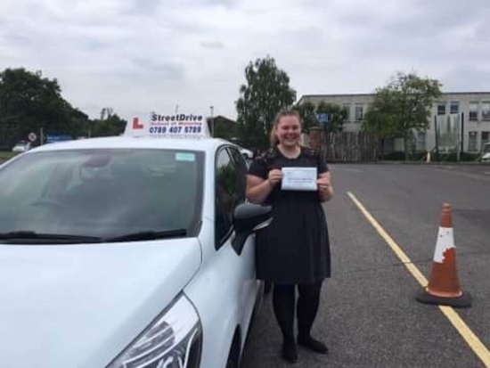 'Louise' is a brilliant instructor, she made me feel comfortable and is very friendly, she helped me gain confidence in myself and I actually started to enjoy driving. <br /> <br /> Would definately recomend her and StreetDrive to anyone - Passed Friday 25th May 2018.