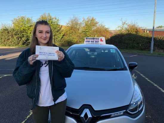 "It's been a early start, congratulations to 'Ella Davenport' who passed her driving test this morning at Poole DTC, and ""1st Attempt"" just ""THREE"" driving faults, very well done, we are all chuffed for you.<br />