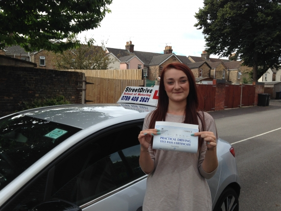 A huge well done to Emma Clough for passing her driving test 1st Attempt at Poole DTC it was a great drive and we are all delighted for you<br />