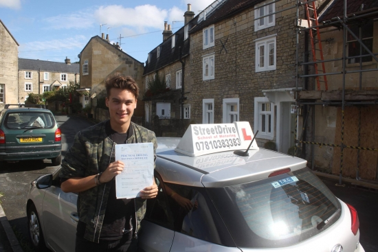 Congratulations to Freddie Isaksen who passed his driving test at Chippenham DTC, and 1st attempt, fantastic news.<br /> <br /> <br /> <br /> Well done from your instructor Philip and ALL of us at StreetDrive, may we wish you many years of safe driving - Passed Friday 8th September 2017.