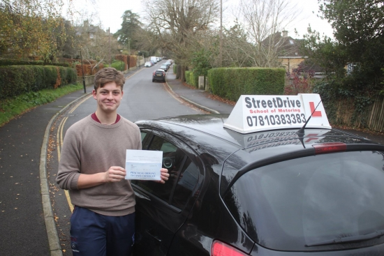 Well Done and a huge Thank You to Phil he assessed the amount of lessons that Harry needed accurately and Harry passed his test first time at aged 17 and 4 months<br /> <br /> <br /> <br /> We would really recommend but would advise that it is better that parents arrange the lessons as we left it to Harry and then found that Phil was too booked up for regular slots A recommendation in itself - Passed Tuesday 2