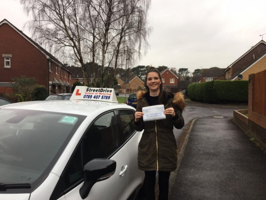 Congratulations to Jacoba Bascombe who passed her driving test today at Poole DTC just FOUR minor faults fantastic news<br />
