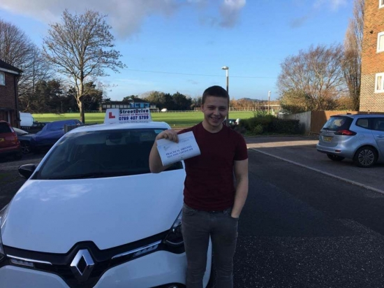 "Congratulations to 'Jake Cutler' who passed his driving test today at Poole DTC, and at the ""1st Attempt"" just ""THREE"" driving faults, fantastic news.<br />