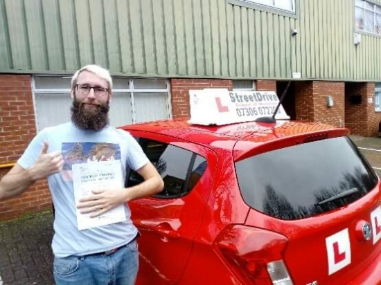'Andy' from StreetDrive genuinely made driving lessons a fun experience. I´ve thoroughly enjoyed my lessons and successfully passed my test 'first time'. <br /> <br /> 'Andy' is particularly excellent at teaching and his ability to talk you through all aspects of a given maneuver or situation meant learning was a consistent stream of progress.<br /> <br /> I´d like to take this opportunity to once a