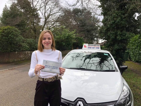 """Beep, beep, congratulations to """"Jenny Hill' who passed her driving test this morning at Poole DTC, and at the """"1st attempt"""", we are ALL delighted for you.<br /> <br /> Congratulations from your instructor 'Louise' and ALL of us at StreetDrive (School of Motoring), may we wish you many years of safe driving - Passed Thursday 21st Feb 2019."""