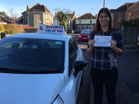 "Delighted for ""Joanna Davis"" who passed the new ""SatNav"" driving test today at Poole DTC, it was her ""1st Attempt"", such fantastic news - Passed Tuesday 30th January 2018. <br />