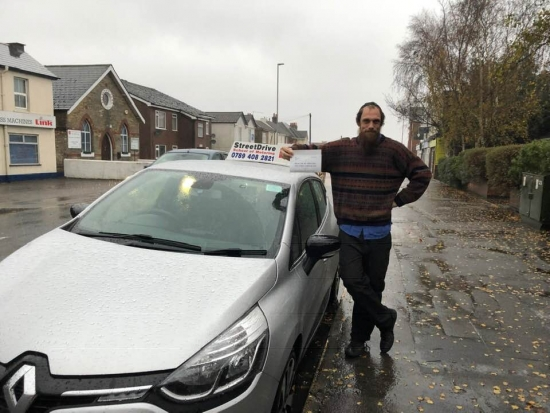 """Congratulations to 'John Shelper' who passed his driving test this afternoon at Poole DTC, just """"THREE"""" driving faults, a superb drive considering the wind and heavy rain, we are ALL delighted for you.<br /> <br /> Congratulations from your instructor 'Shaun' and ALL of us at StreetDrive (School of Motoring) - Passed Tuesday 27th November 2018."""
