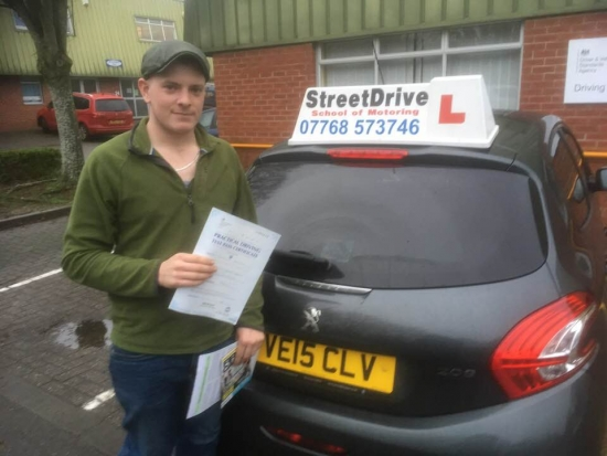 """Congratulations to """"Josh Masters' who passed the new """"SatNav"""" driving test today at Chippenham DTC, was his """"1st Attempt"""", fantastic news.<br /> <br /> <br /> <br /> Well done from your instructor 'Colin' and ALL of us at StreetDrive (School of Motoring), may we wish you many years of safe driving - Passed Monday 15th January 2018."""