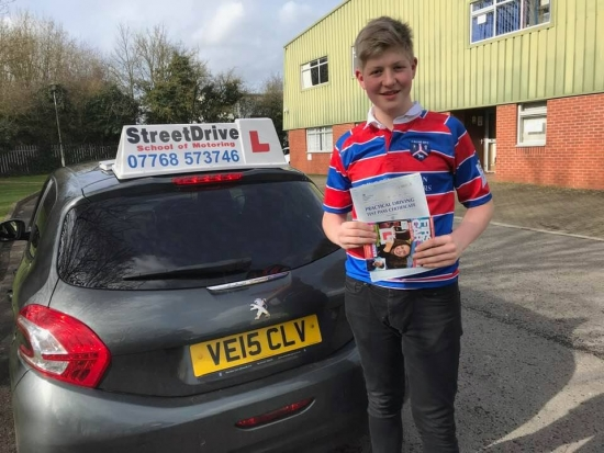 """Beep, beep, congratulations to 'Joshua Williams' who passed his driving test at Chippenham DTC, just the """"ONE"""" driving fault, fantastic news.<br /> <br /> Congratulations from ALL of us at StreetDrive (School of Motoring), we wish you many years of safe driving - Passed Thursday 7th March 2019."""